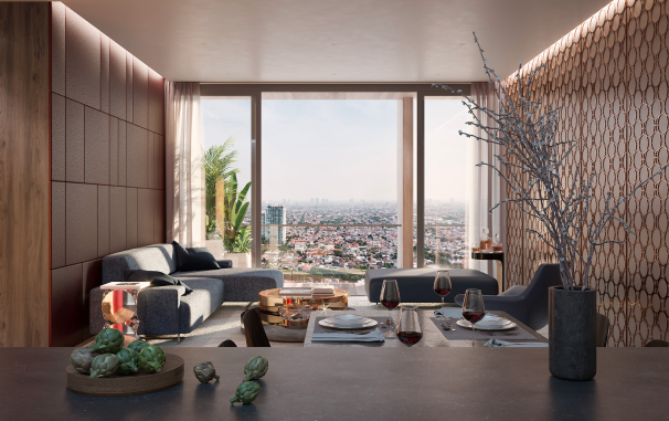 Living Room of 2-BR Unit at Tower II & III