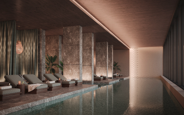 Private Indoor Pool at Tower I